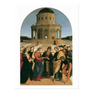O casamento do Virgin - cartão de Raphael