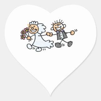 O casamento dos noivos Elope casamento do Adesivo Coração