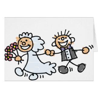 O casamento dos noivos Elope Elopement Cartão Comemorativo