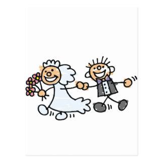 O casamento dos noivos Elope Elopement Cartão Postal