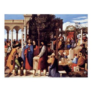 O casamento em Cana por Julius Schnorr Von Carolsf Cartoes Postais