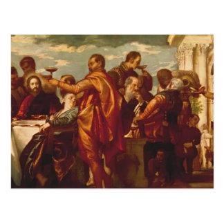 O casamento em Cana por Paolo Veronese Cartões Postais
