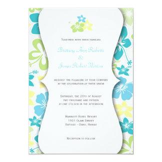 O casamento havaiano ou o chá de panela convidam convites