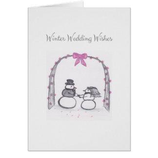 O casamento no inverno vazio deseja o cartão