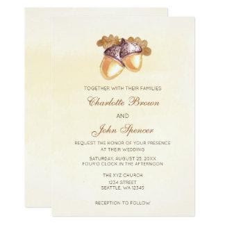 o casamento outono das folhas do carvalho das convite 12.7 x 17.78cm