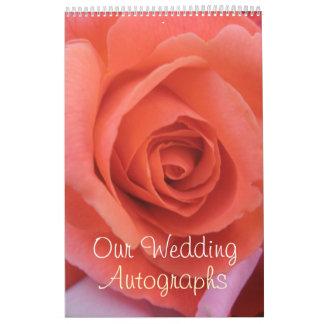 O casamento Peachy aumentou Calendário