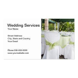 O casamento presta serviços de manutenção ao cartão de visita