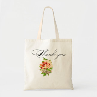 O casamento romântico floral favorece customizável bolsa tote