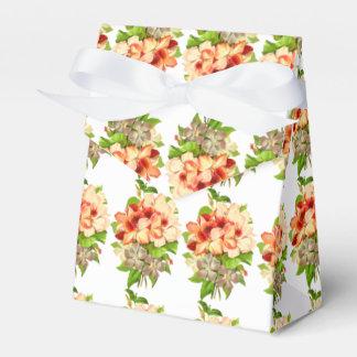O casamento romântico floral favorece customizável caixinha