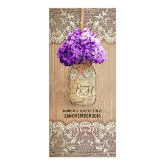 o casamento rústico do frasco de pedreiro do 10.16 x 22.86cm panfleto