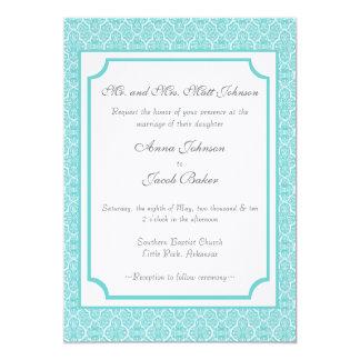 O casamento tema damasco simplesmente clássico convite 12.7 x 17.78cm