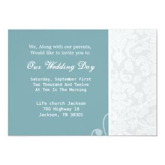 O casamento vintage azul & branco convida convites personalizados