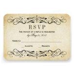 O casamento vintage RSVP carda o Flourish elegante