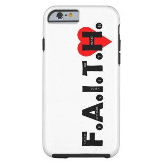 O caso da proteção de F.A.I.T.H. IPhone Capa Tough Para iPhone 6