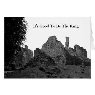 O castelo arruina o cartão de aniversário