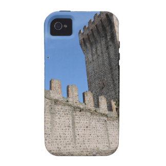 o castelo medieval knights o tijolo antigo velho capa para iPhone 4/4S