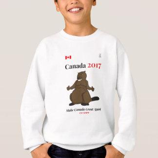 O castor de Canadá 150 em 2017 faz o excelente Agasalho