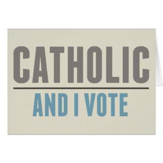 O católico e eu votamos cartoes