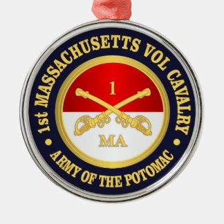 ø Cavalaria voluntária de Massachusetts Ornamento De Metal