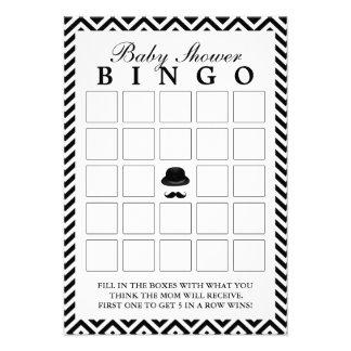 O cavalheiro Chevron listra cartões do Bingo do ch Convite