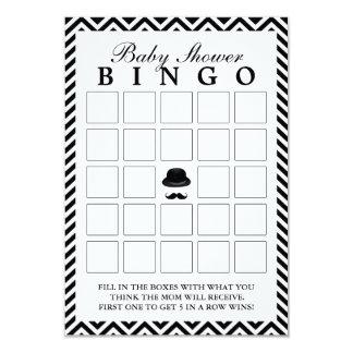 O cavalheiro Chevron listra cartões do Bingo do Convite 8.89 X 12.7cm