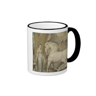 """O cavalo, de """"das baladas William Hayley"""", c.1805 Caneca Com Contorno"""