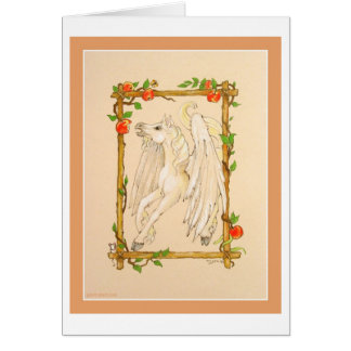 O cavalo de Pegasus come maçãs Cartão