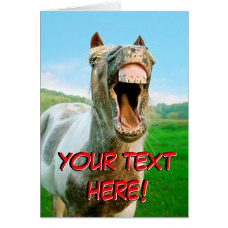 O cavalo de riso cartão
