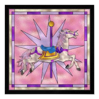 O cavalo do carrossel - SRF Convite Quadrado 13.35 X 13.35cm