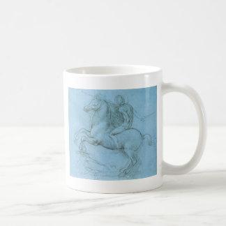 O cavalo e o cavaleiro de da Vinci Caneca De Café