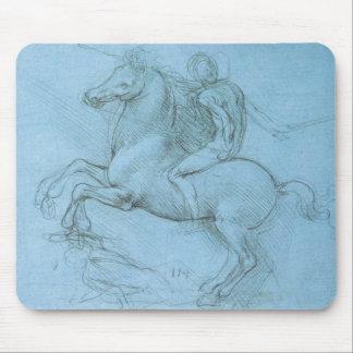 O cavalo e o cavaleiro de da Vinci Mouse Pads