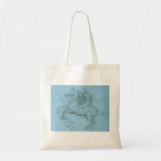 O cavalo e o cavaleiro de da Vinci Sacola Tote Budget