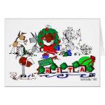 O cavalo feliz cultiva o cartão de Natal