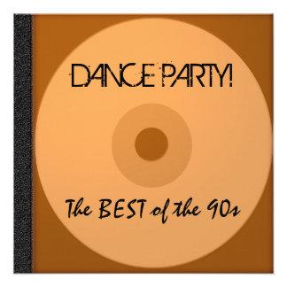 O CD do dance party convida Convites Personalizado