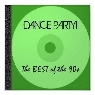 O CD do dance party convida Convites Personalizados