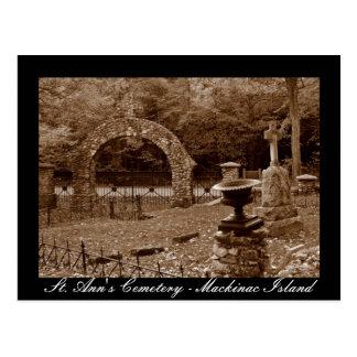 O cemitério de St Ann - cartão da ilha de Mackinac