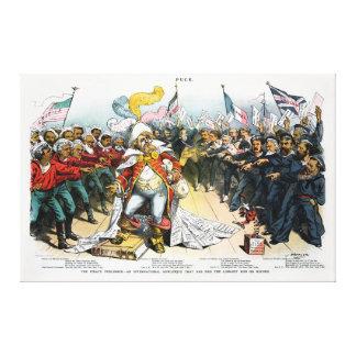 O Centerfold do editor do pirata no disco 1886 Impressão De Canvas Esticadas