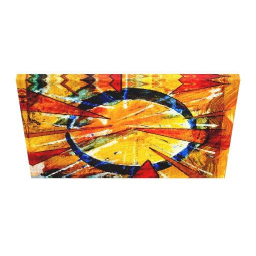o centro do relâmpago impressão em tela canvas