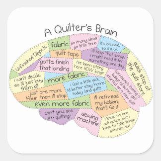 O cérebro de Quilter Adesivo Quadrado