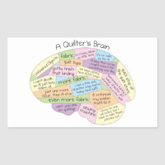 O cérebro de Quilter Adesivo Retangular