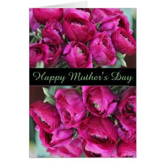 O Cerise bonito floresce o cartão do dia das mães