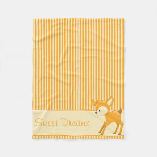 O cervo do bebê | amarelo & laranja listra | cobertor de lã