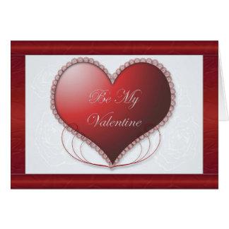 O cetim vermelho seja meu cartão dos namorados