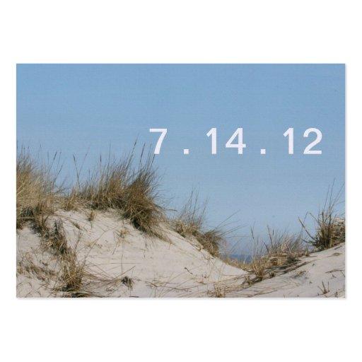 O céu azul & as dunas salvar a data modelos cartão de visita