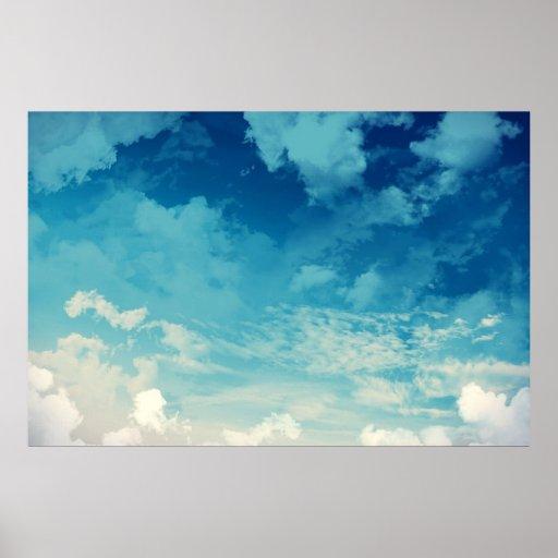 O céu bonito… Nuvens Pôsteres