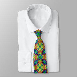 O céu da tintura do laço telhou gravatas coloridas