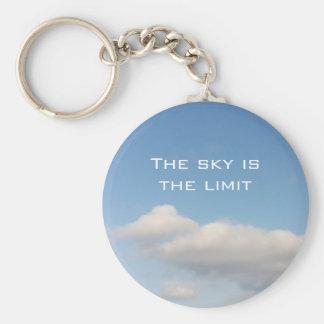 O céu é o chaveiro do limite com slogan