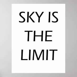 O céu é o limite - poster inspirador