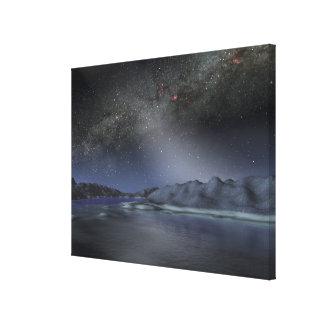 O céu nocturno de um planeta estrangeiro hipotétic impressão em tela canvas