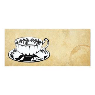 O chá alto/lanche convida convite 10.16 x 23.49cm